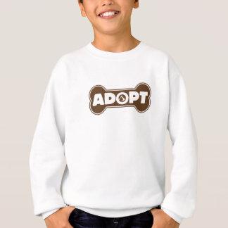 cat and dog adoption adopt bone tshirt