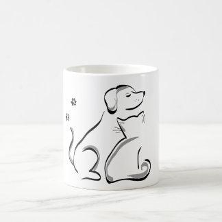 Cat and dog best friends coffee mug