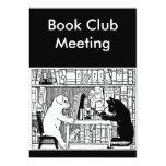 Cat and Dog Book Club Invite