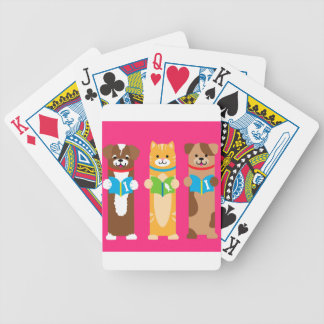 Cat and Dog Bookmarks Bicycle Playing Cards