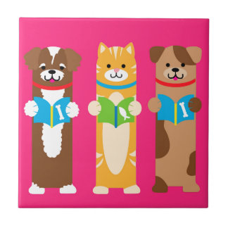 Cat and Dog Bookmarks Tile