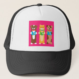Cat and Dog Bookmarks Trucker Hat