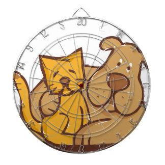 Cat and Dog Dartboard