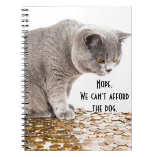 Cat and dog humor notebooks