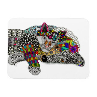 Cat and Dog Magnet