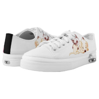 cat and dog printed shoes