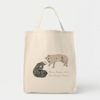 Cat and Dog Together Tote Bag