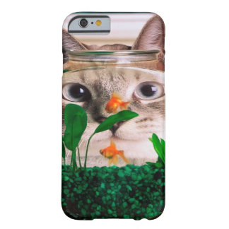 Cat and fish - cat - funny cats - crazy cat barely there iPhone 6 case