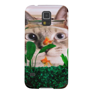 Cat and fish - cat - funny cats - crazy cat galaxy s5 case