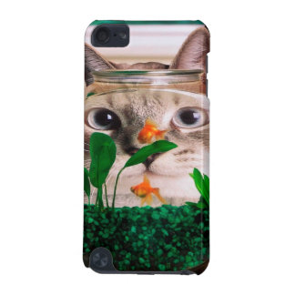 Cat and fish - cat - funny cats - crazy cat iPod touch (5th generation) cases