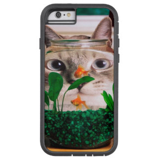 Cat and fish - cat - funny cats - crazy cat tough xtreme iPhone 6 case