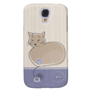 Cat and Fish  Galaxy S4 Covers