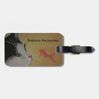 cat and fish luggage tag
