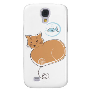 Cat and Fish  Samsung Galaxy S4 Case