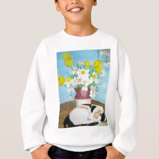 Cat and Flowers Sweatshirt