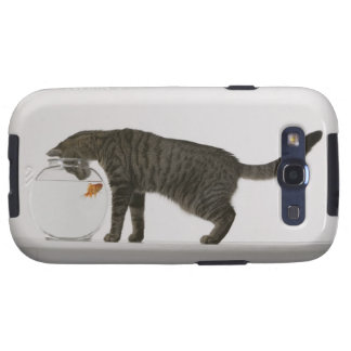 Cat and goldfish galaxy s3 case
