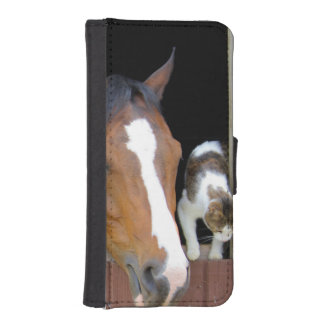 Cat and horse - horse ranch - horse lovers iPhone SE/5/5s wallet case