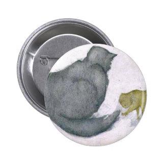 Cat and Kitten Artwork by Edward Coley Burne-Jones Pinback Button