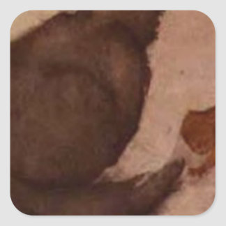 Cat and Kitten by Edward Burne-Jones Square Sticker