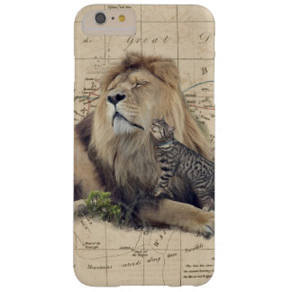 cat and lion - africa map - felines barely there iPhone 6 plus case