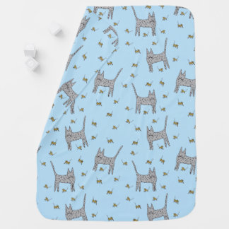 Cat and Mice Baby Blanket