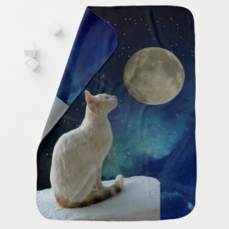 Cat and Moon Buggy Blankets