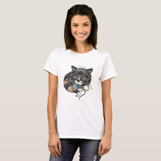 Cat and Mouse Alice in wonderland T-Shirt