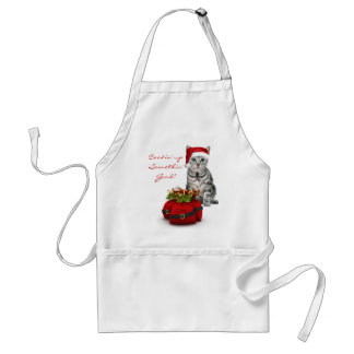 Cat and Mouse Funny Christmas Apron