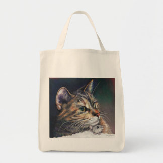 Cat and Mouse Grocery Tote bag