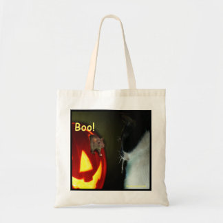 Cat and Mouse Halloween Tote Bags