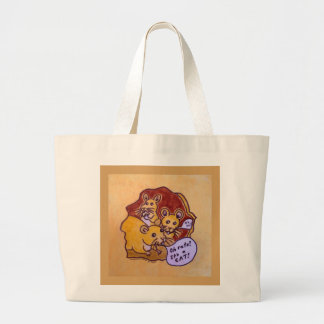 Cat and Mouse Large Tote Bag