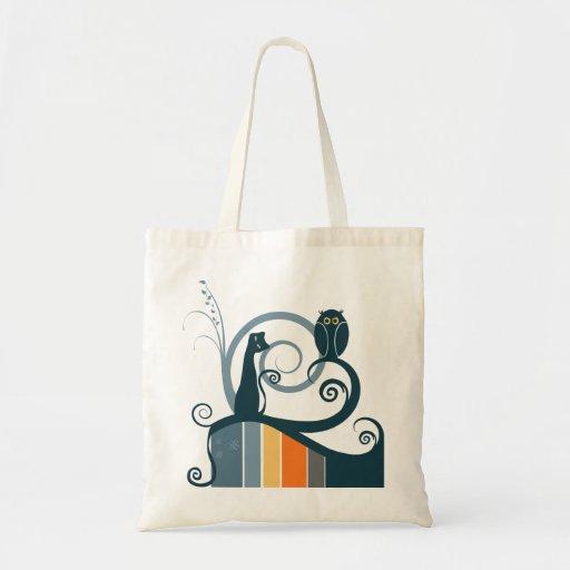 Cat and Owl Original Design Bags