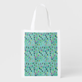 Cat and Paws Pattern Reusable Grocery Bag