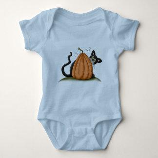 Cat and Pumpkin Baby Bodysuit