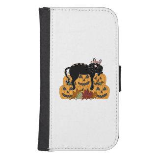 Cat and Pumpkins Phone Wallet Cases
