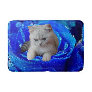 Cat and Rose Bath Mat