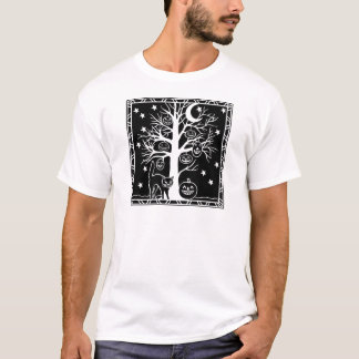 Cat and the Pumpkin Tree T-Shirt