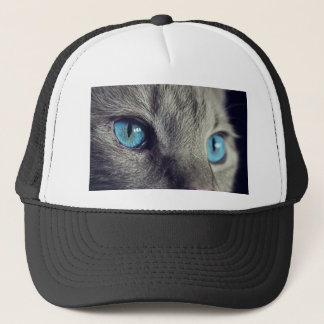 Cat Animal Cat's Eyes Eyes Pet View Blue Eye Trucker Hat