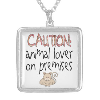 Cat Animal Lover Silver Plated Necklace