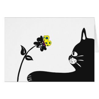 Cat Any Time Greeting Card Blank Inside