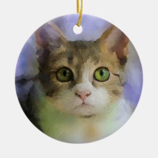 Cat Art Ornament