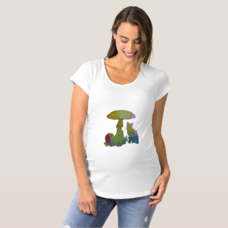 Cat Artwork Maternity T-Shirt