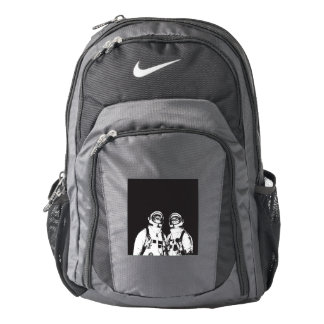 cat astronaut - black and white cat - cat memes backpack
