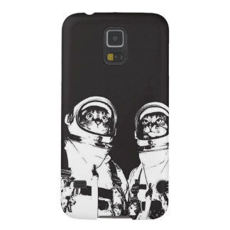 cat astronaut - black and white cat - cat memes case for galaxy s5