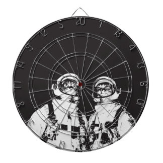 cat astronaut - black and white cat - cat memes dartboard