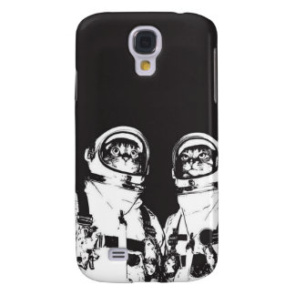cat astronaut - black and white cat - cat memes galaxy s4 case