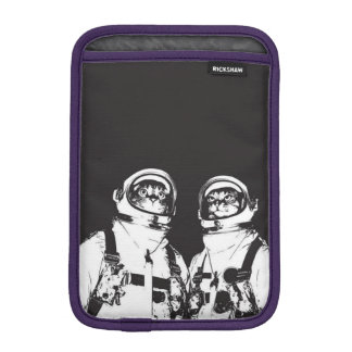 cat astronaut - black and white cat - cat memes iPad mini sleeve