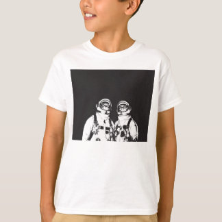cat astronaut - black and white cat - cat memes T-Shirt
