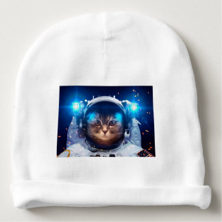 Cat astronaut - cats in space  - cat space baby beanie