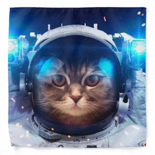 Cat astronaut - cats in space  - cat space bandana